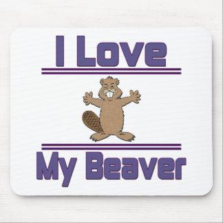 I Love My Beaver Mousepad