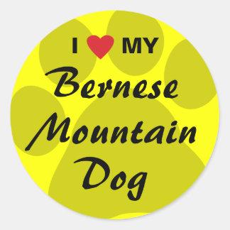 I Love My Bernese Mountain Dog Classic Round Sticker