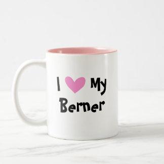 I Love My Bernese Mountain Dog Two-Tone Coffee Mug