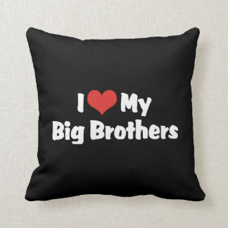 I Love My Big Brothers Throw Pillow