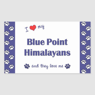 I Love My Blue Point Himalayans (Multiple Cats) Rectangular Sticker