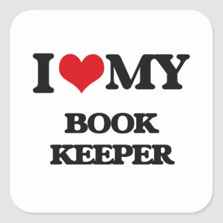 I love my Book Keeper Sticker