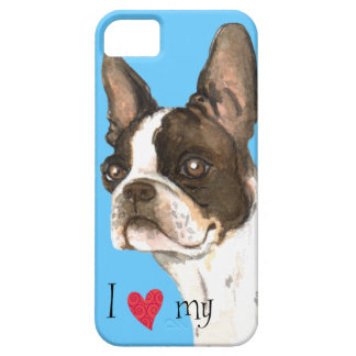 I Love my Boston Terrier Barely There iPhone 5 Case