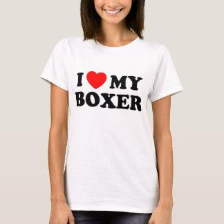 I Love my Boxer Ladies Baby Doll T-Shirt