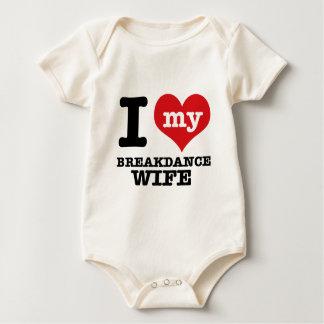 I love my breakdance  Boyfriend Baby Bodysuit