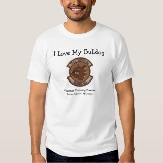 I love my bulldog-desert t-shirt
