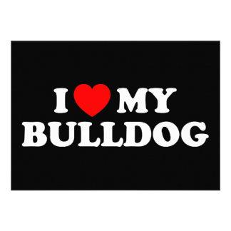 I Love my Bulldog Invitation