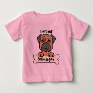 I Love My Bullmastiff Baby T-Shirt