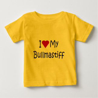 I Love My Bullmastiff Dog Lover Gifts and Apparel Baby T-Shirt