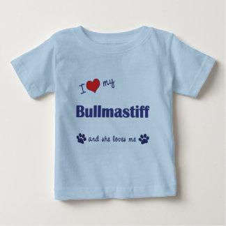 I Love My Bullmastiff (Female Dog) Baby T-Shirt