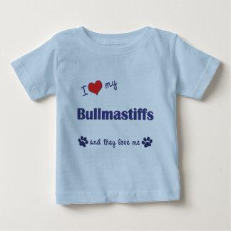 I Love My Bullmastiffs (Multiple Dogs) Baby T-Shirt