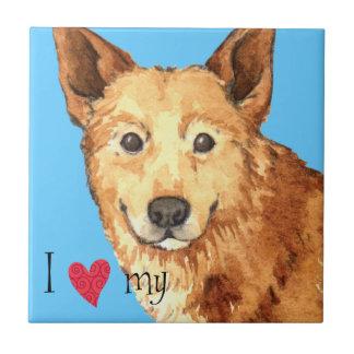 I Love my Canaan Dog Tile