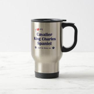 I Love My Cavalier King Charles Spaniel (Male Dog) Travel Mug