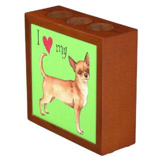 I Love my Chihuahua Desk Organiser