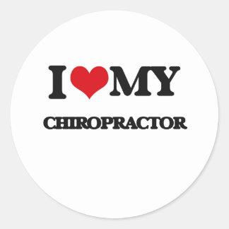 I love my Chiropractor Round Stickers
