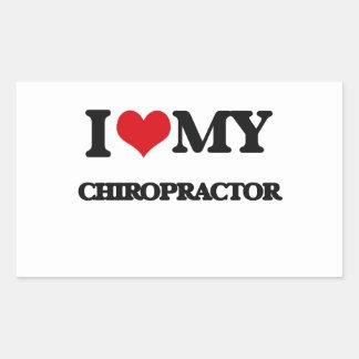 I love my Chiropractor Rectangular Sticker