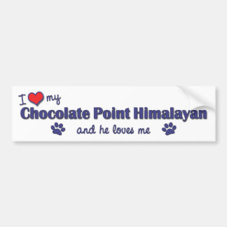 I Love My Chocolate Point Himalayan (Male Cat) Bumper Sticker
