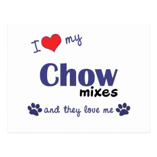 I Love My Chow Mixes (Multiple Dogs) Postcard