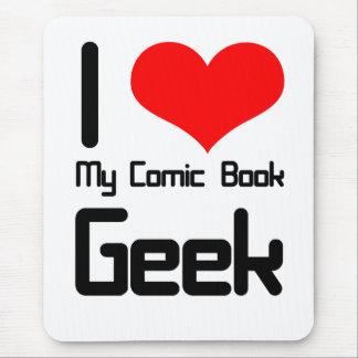 I love my comic book geek mouse pad