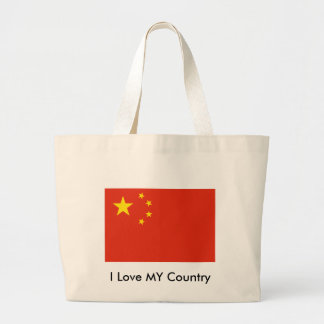 I Love MY Country China Flag Peoples Republic Tote Bags