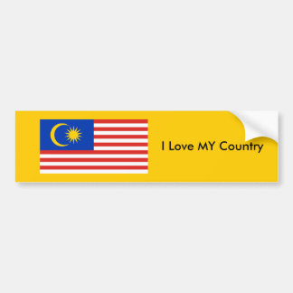 I Love MY Country Malaysia FlagnThe MUSEUM Zazzle Bumper Stickers