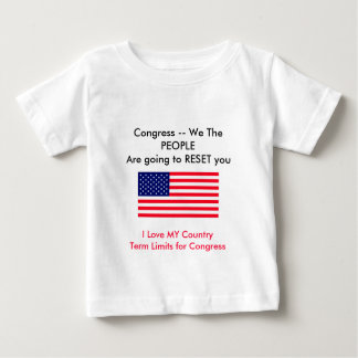 I Love MY Country Term Limits for Congress Baby T-Shirt