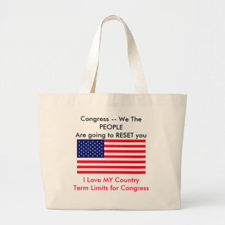 I Love MY Country Term Limits for Congress Tote Bag