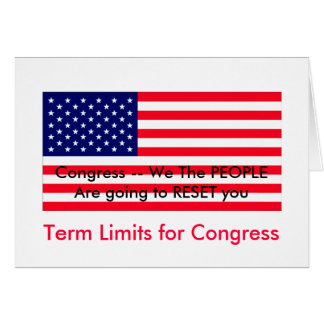 I Love MY Country Term Limits for Congress Card