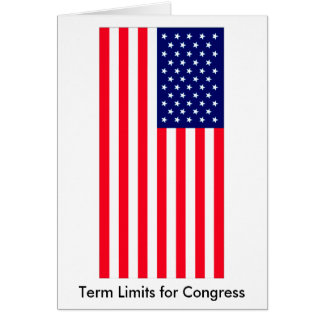 I Love MY Country Term Limits for Congress Cards