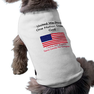 I Love MY Country Term Limits for Congress Pet Tshirt