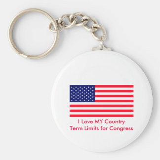 I Love MY Country Term Limits for Congress Key Chains