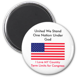 I Love MY Country Term Limits for Congress Magnets