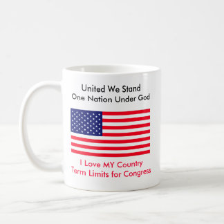 I Love MY Country Term Limits for Congress Coffee Mugs