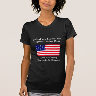 I Love MY Country Term Limits for Congress Shirts