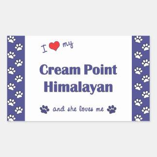 I Love My Cream Point Himalayan (Female Cat) Rectangular Sticker