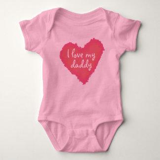 I Love My... Custom Pastel Heart Baby Bodysuit