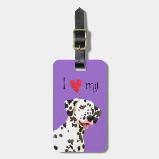 I Love my Dalmatian Bag Tag