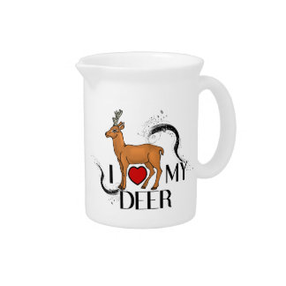 I Love My Deer Pitcher