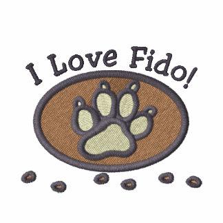 I Love My Dog Embroidery on Shirt