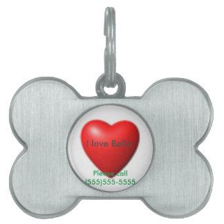 I love my dog pet ID tag