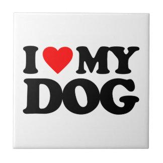 I LOVE MY DOG TILES