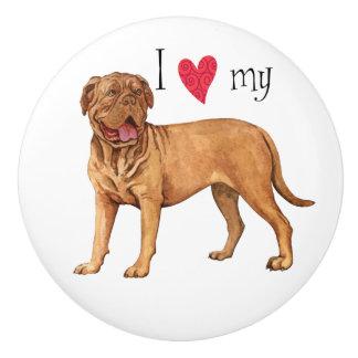 I Love my Dogue de Bordeaux Ceramic Knob