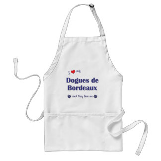 I Love My Dogues de Bordeaux (Multiple Dogs) Standard Apron