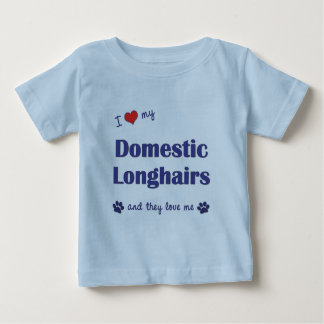 I Love My Domestic Longhairs (Multiple Cats) Baby T-Shirt