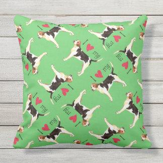 I Love my English Foxhound Throw Pillow