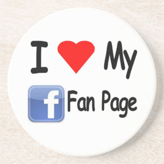 I Love My Face Book Fan Page Beverage Coaster