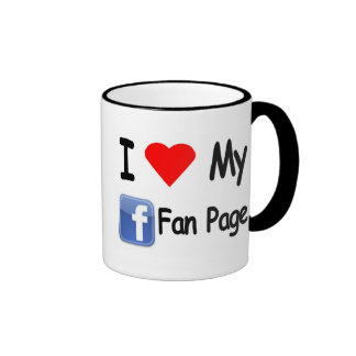 I Love My Face Book Fan Page Ringer Mug