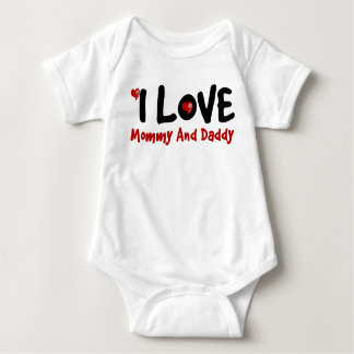 I Love My Family Couple Baby Jersey Bodysuit