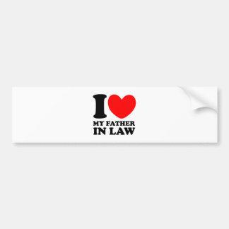 I Love My Father In Law Bumper Sticker