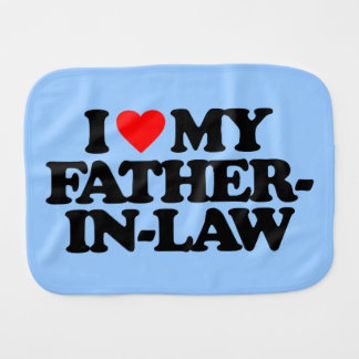 I LOVE MY FATHER-IN-LAW BABY BURP CLOTH